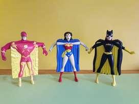 Art 73 Mujer Maravilla Flash Batichica Batman Super Heroes Mc Donalds Burger King