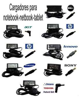 Cargadores para notebook-netbook-tablet. originales y universales