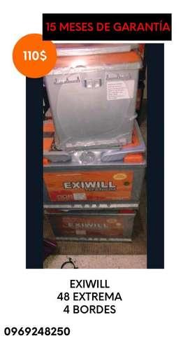 Bateria Exiwill 4 Bordes