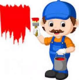 Se hace trabajo de pintura solo pintura