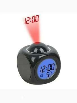Reloj despertador digital multifuncional con luz LED