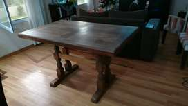 Mesa de algarrobo + 4 sillas