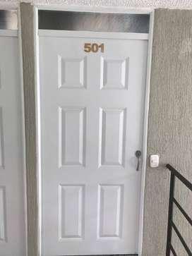 Apartamento en obra gris, amplio, cocina abierta, vestier estudio