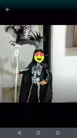 Vestido de niña de la muerte de carnaval