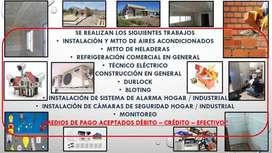 Refrigeración Colocación de Aires, Reparación de Heladeras Comercial, Instalación de Cámaras y Alarmas, Durlock