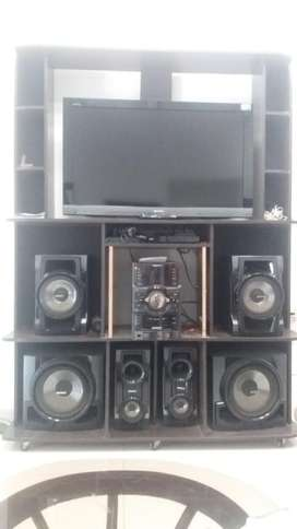 Vendo Tv, Equivo de Sonido Y Repisa