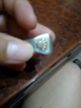 anillo de plata y oro usado