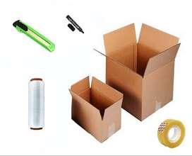 Paquete básico para mudanzas, cajas de cartón y protección