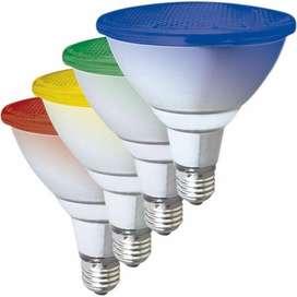 Lámpara Par 38 Led Exterior Ip65 Varios Colores