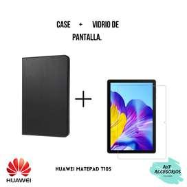Combo de case más vidrio de pantalla Huawei MatePad T10S