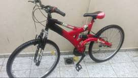 bicicleta doble suspension en 90
