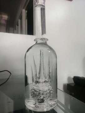 Hermosa botella para decorar