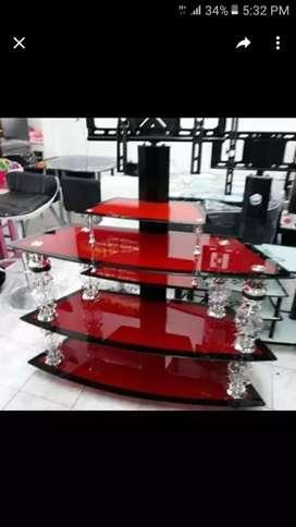 Mesa para tv en vidrio templao
