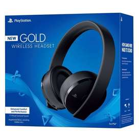 Playstation Gold Wireless Headset Para PS4 / PS VR - Negro