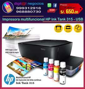 Impresora multifuncional HP Ink Tank 315.