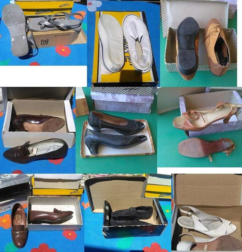 Zapatos de mujer. Variedad. 0