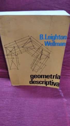 Libro Geometría descriptiva autor Leighton Wellman