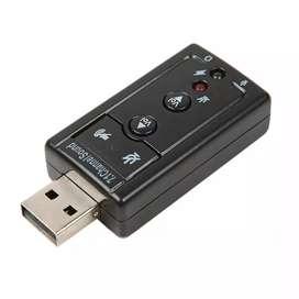 Tarjeta de sonido USB 7.1