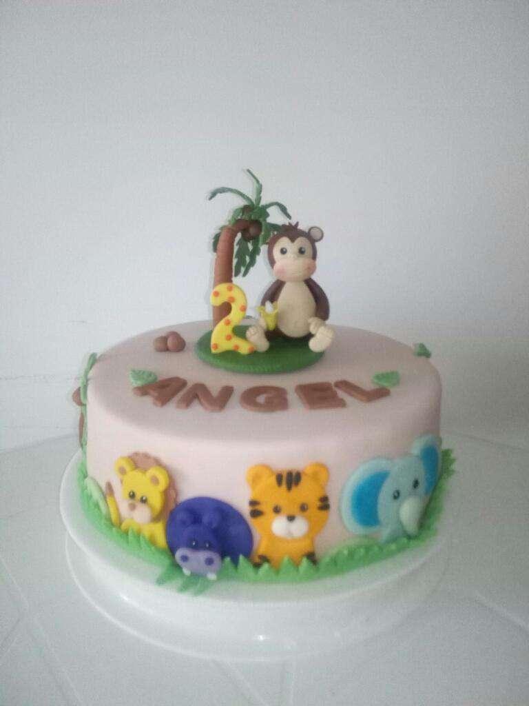 Torta Selva Animalitos Mico Mono 0