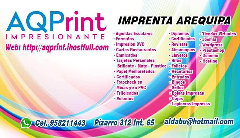 Imprenta AQPrint Arequipa (imprenta, imprentas - arequipa) 0