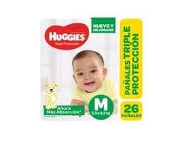 Pañales Huggies Triple Protección X 26 Uni, M De 5.5 A 9.5kg