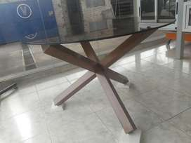 Mesa Cross de madera sin vidrio