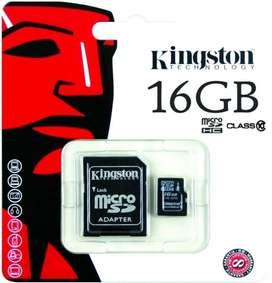MEMORIA MICRO SD KINGSTON 16GB CLASE 10 EN BLISTER *LOCAL*