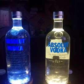 Botella Absolut lampara