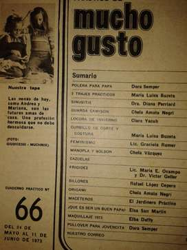*Mucho Gusto - Cuaderno Practico Nº66-1973 Sin Tapa