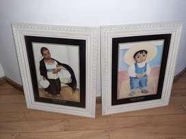 Vendo 2 laminas de  Rivera, (incluye marcos y vidrio). $ 2000 cada uno