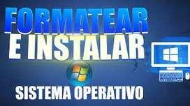 FORMATEO E INSTALACIÓN DE SISTEMAS OPERATIVOS A DOMICILIO