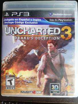 Se vende UNCHARTED 3 ps3