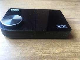 Tarjeta de sonido externa USB