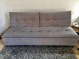 Sofa Cama gris de 190x110  3 posiciones
