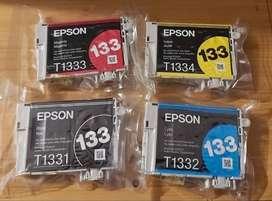 Cartuchos epson 133 ( T1331- T1332- T1333-T1334.)