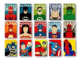 Cuadros de tus personajes favoritos y personalizados en acrílico al frío. 100% profesionales, se aceptan ofertas