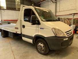 Iveco daily camion camilla 55-16 con camilla incarvit hasta 4.5 toneladas. 4 movimientos 1 piston. LISTA PARA TRABAJAR
