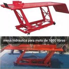 Mesa hidráulica para moto