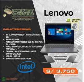 "LAPTOP LENOVO I7 / PANTALLA 14""/ 8GB / 256 GB M.2"