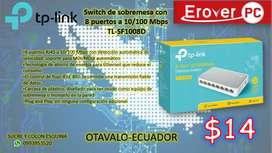 Switch de sobremesa con 8 puertos a 10/100 Mbps TL-SF1008D