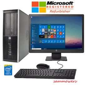 Oferta computadoras corporativa hp core i5 con monitor 19 teclado mauso garantía 6 meses
