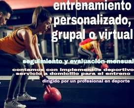 Entrenador personal, grupal o virtual