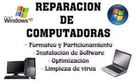 Se reparan computadoras de escritorio y notebooks