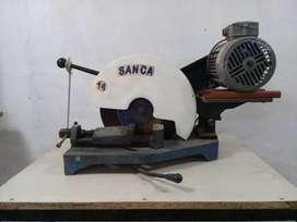 """Cortadora Sensitiva Sanca (San Carlos) de 14"""" funcionando"""