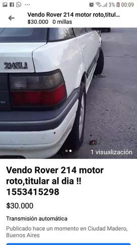 Rover 214 motor roto titular