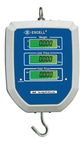 balanzas electrónica colgante EXCELL 3o kg de calidad