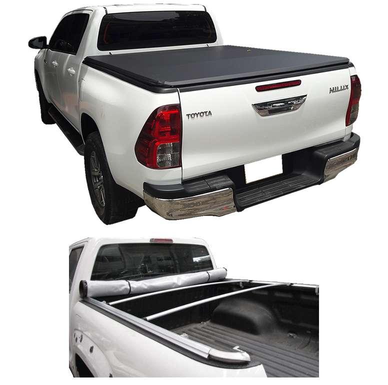 Carpa Plana Toyota Hilux Revo Lona Con Marca Enrollable Riel Aluminio Camioneta Ref MC337 ¡Envío Gratis! 0