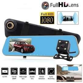 Espejo retrovisor coche DVR Full HD 1080p  DVR Grabador de vídeo con parte frontal y trasera