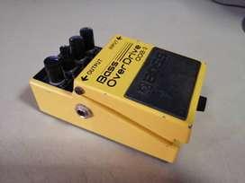 Pedal Boss Bass Overdrive ODB-3 poco uso