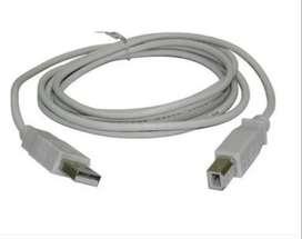 Cable Impresora Usb 1,5 Metro Multifunción Liquido Gris